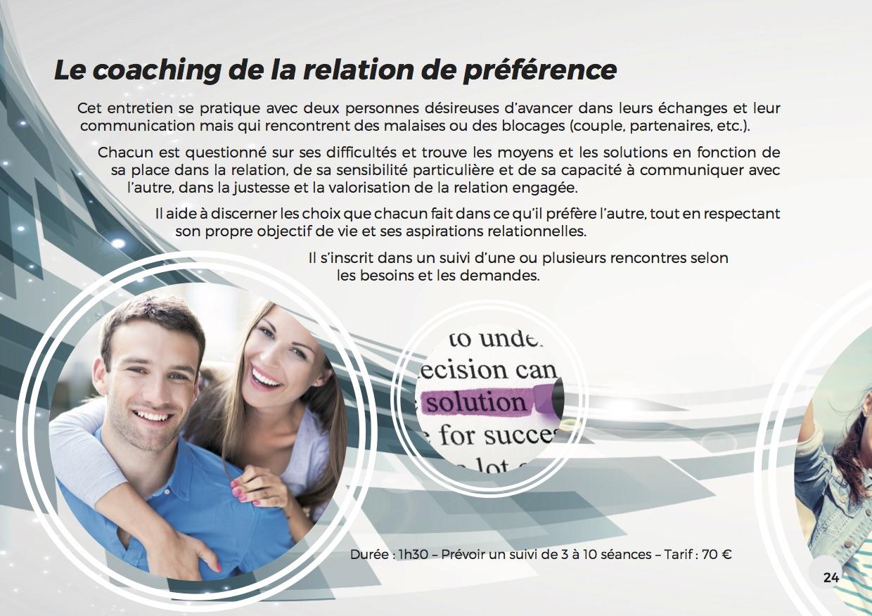 Coaching relation préférentielle