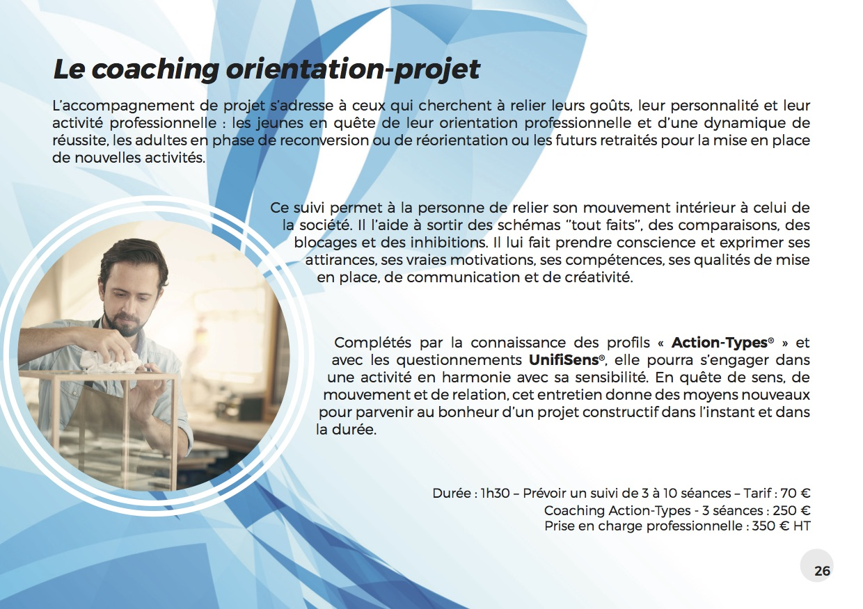 Coaching Unifisens Orientation Projet